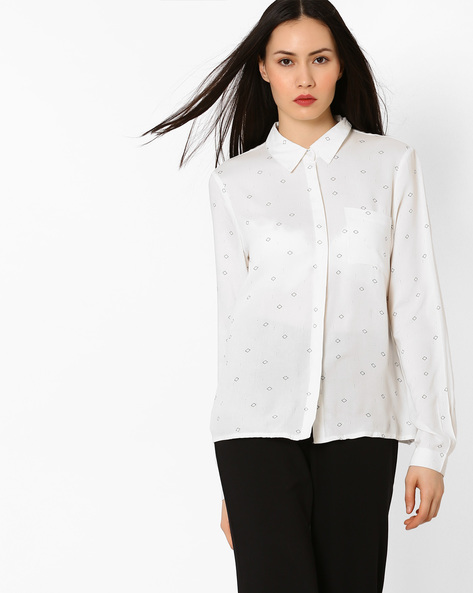 Shirt With Patch Pocket By Vero Moda ( White )