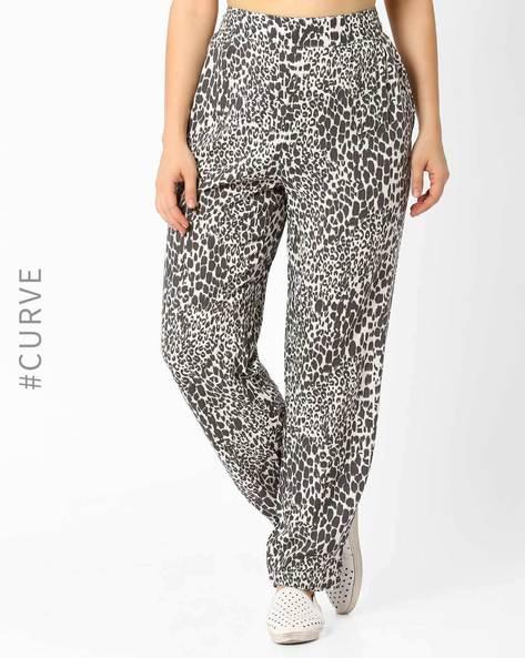Leopard Print Jogger Pants By Lastinch ( Black )