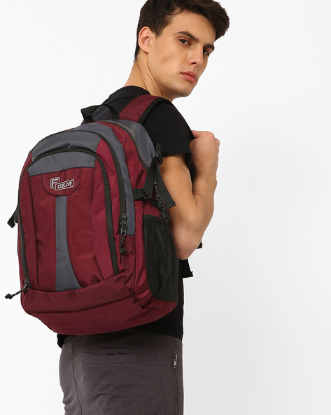 AREENA V2 Backpack With Multiple Pockets By F-GEAR ( Wine )