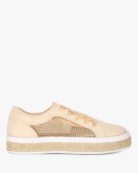Lace-Up Sneakers With Mesh Panels By Truffle Collection ( Multi )