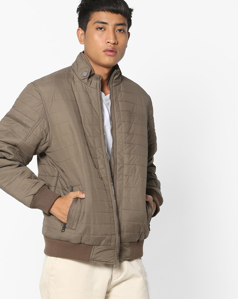 Zip-Front Quilted Jacket By Fort Collins ( Khaki )