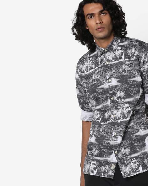 Tropical Print Slim Fit Shirt By Jack & Jones ( Multi )