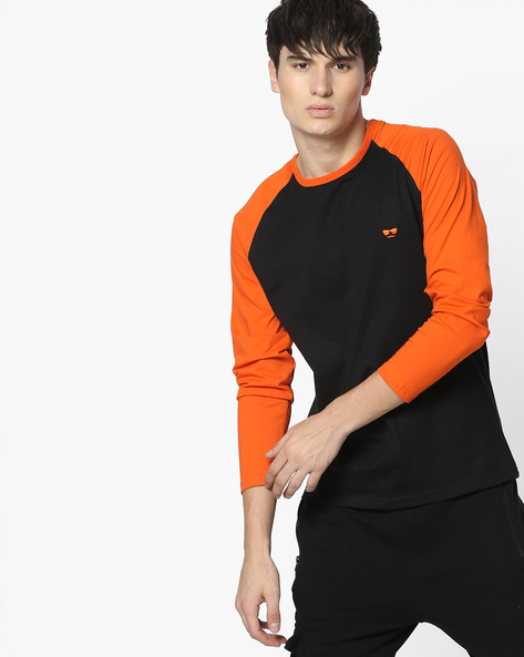 Crew-Neck T-shirt With Contrast Raglan Sleeves By Garcon ( Assorted )