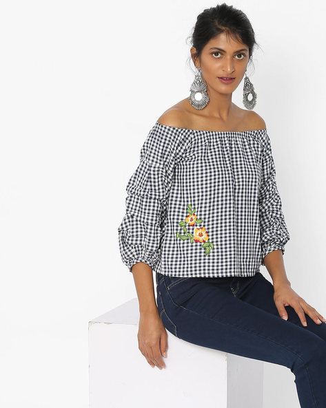 Off-shoulder Embroidered Top By Tarama ( Black )