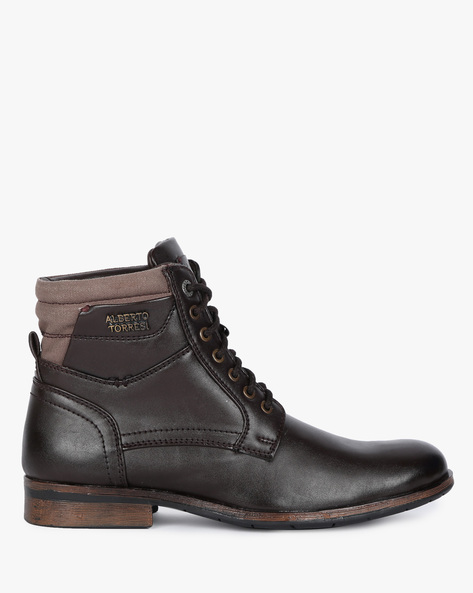 Boots With Lace-Up Fastening By ALBERTO TORRESI ( Brown )