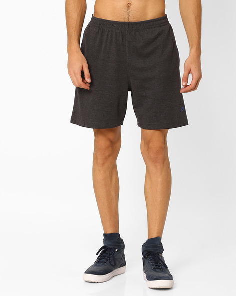 Shorts With Contrast Piping By PROLINE ( Greymelange )
