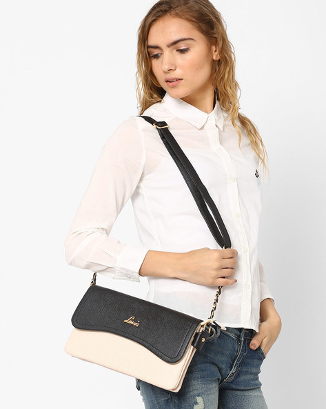 Sling Bag With Adjustable Strap By Lavie ( Beige )