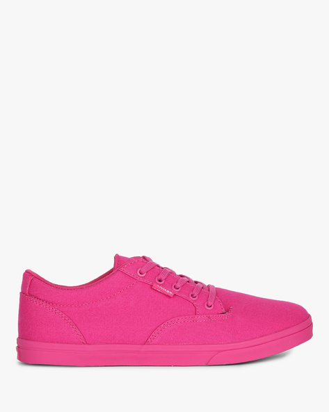 Lace-Up Casual Shoes By Vans ( Pink )