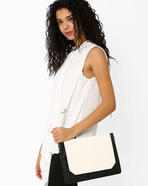 Monochrome Sling Bag By Tessa Moda ( Black )