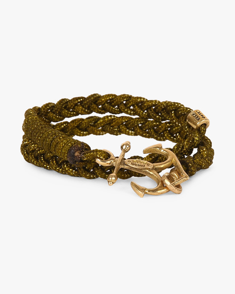 Double-Wrap Braided Bracelet By Alto Vida ( Green )
