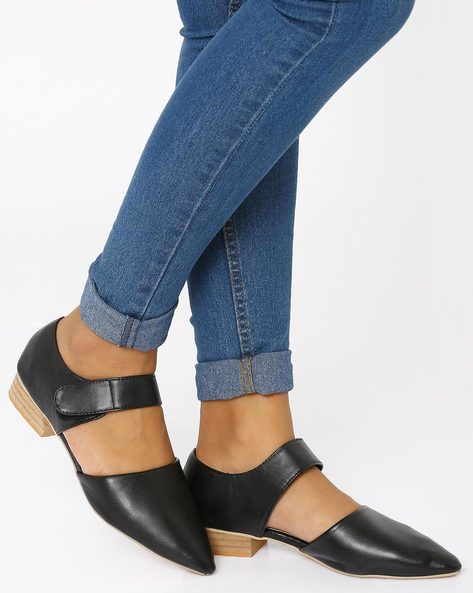 Pointed-Toe Heeled Sandals By MFT Couture ( Black )