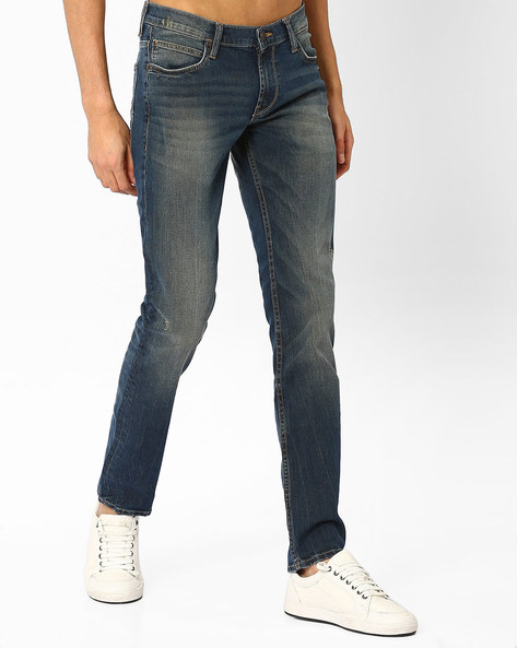 Low-Rise Skinny Tapered Jeans By Lee ( Lightblue )