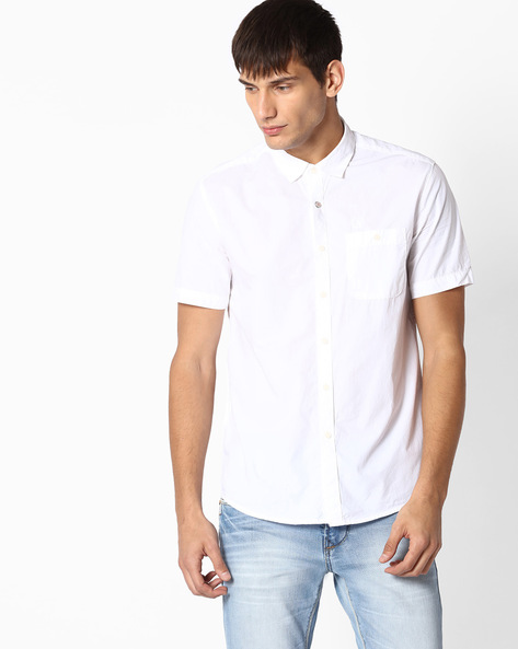 Regular Fit Poplin Shirt By TEAM SPIRIT ( White )