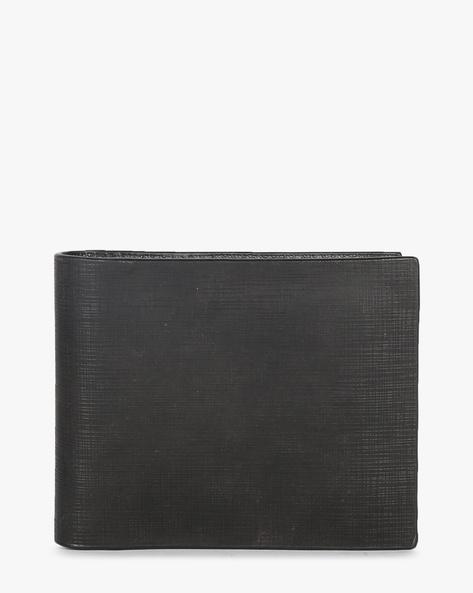 Leather Bi-Fold Wallet By TEAKWOOD LEATHERS ( Black ) - 460173799001
