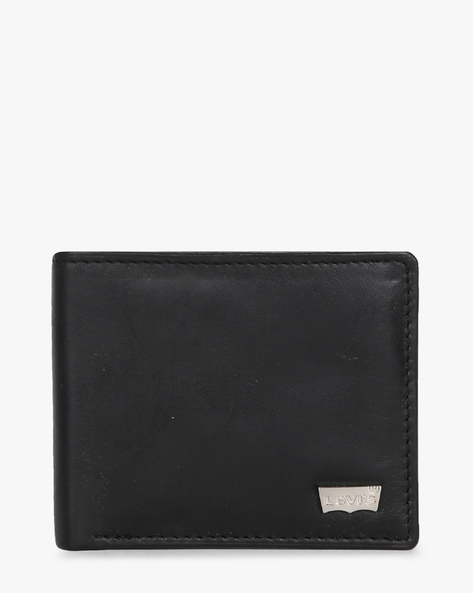 Textured Bi-Fold Leather Wallet By LEVIS ( Black )