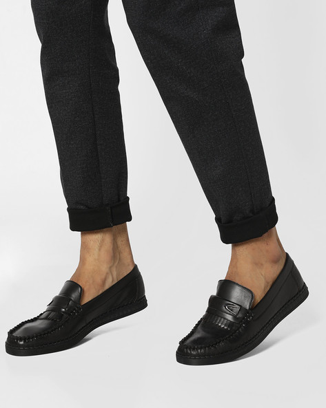 Low-Top Slip-On Casual Shoes By DUKE ( Black )