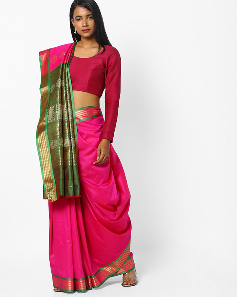 Traditional Saree With Zari Woven Design By CHHABRA 555 ( Fuchsia )