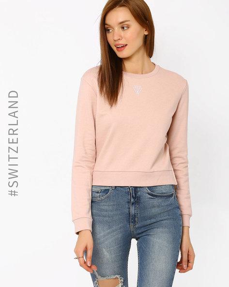Sweatshirt With Rib-Knit Hems By TALLY WEiJL ( Pink )