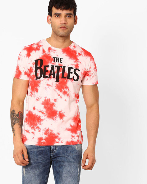 The Beatles Printed Crew-Neck T-shirt By Free Authority ( White )