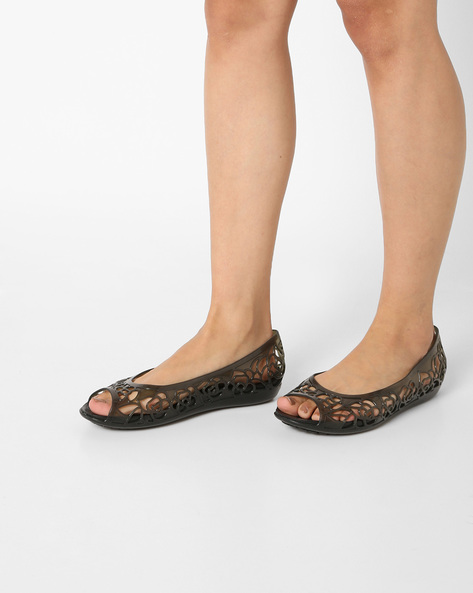 29f5d5073 Isabella Huarache Flat Sandals By CROCS ( Black ) Best Deals With ...