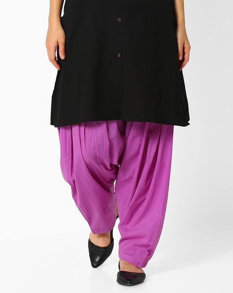 Cotton Patiala Pants By Stylenmart ( Lavender )
