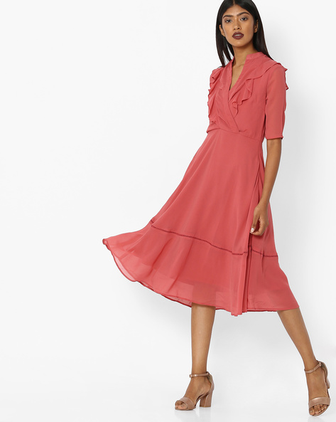 A-line Dress With Ruffles By Femella ( Pink )