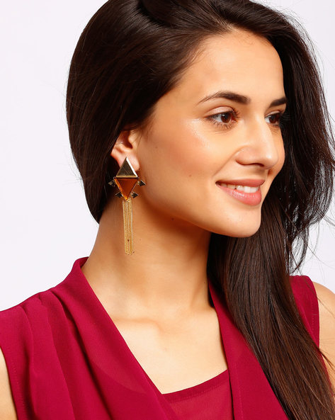 Gold-Plated Drop-Earrings By Ssoul ( Yellow ) - 460008514002