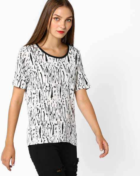 Doodle Print Top By Vero Moda ( White )