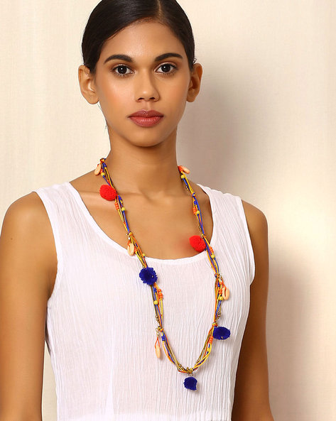 Colourful Beaded Necklace By Indie Picks ( Multi )
