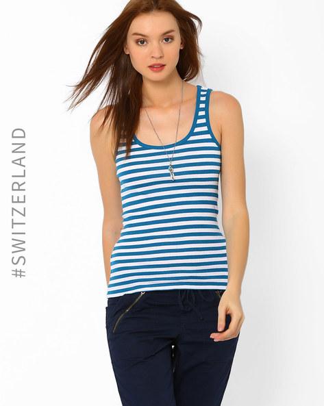 Striped Tank Top By TALLY WEiJL ( Blue )