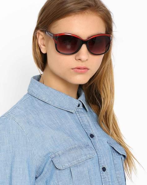 Oversized Sunglasses By Image ( Black ) - 460019278001