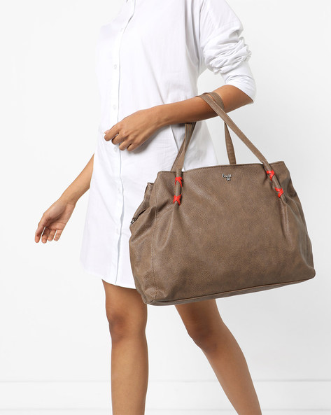 Whiper Krispa Textured Tote Bag By BAGGIT ( Smoke )