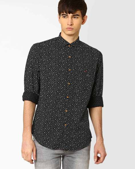 Regular Fit Stan Sport Shirt By Wills Lifestyle ( Black )