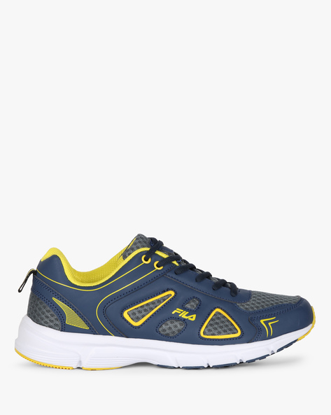 Panelled Sports Shoes With Colourblock Effect By FILA ( Blue )