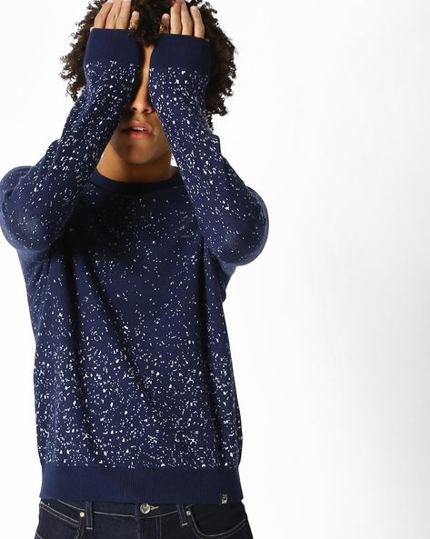 Printed Jacquard Knit Pullover By Lee ( Blue )
