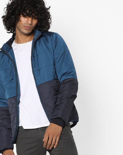 Colourblock Jacket With Hood By FLYING MACHINE ( Assorted )
