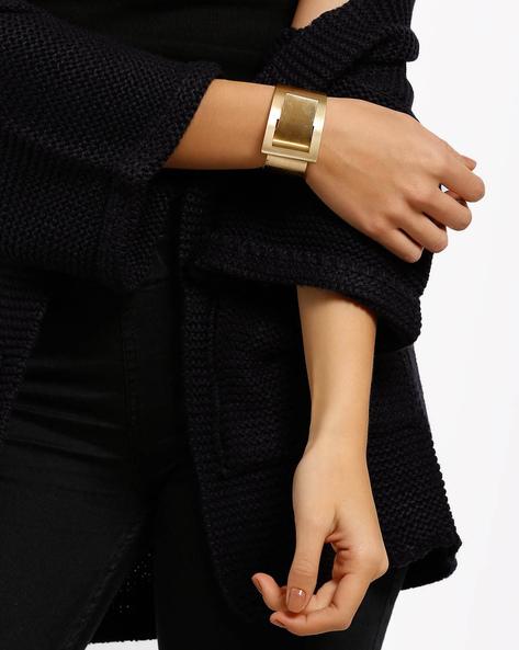 Buckle Cuff Bracelet By Style Fiesta ( Gold )
