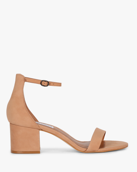 Chunky Heeled Sandals With Ankle Strap By STEVE MADDEN ( 990 )