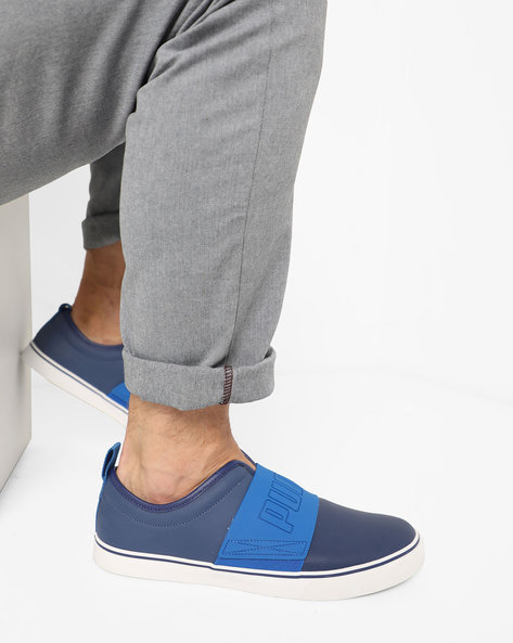 El Rey FUN IDP Slip-On Sneakers With Overlay By Puma ( Blue )