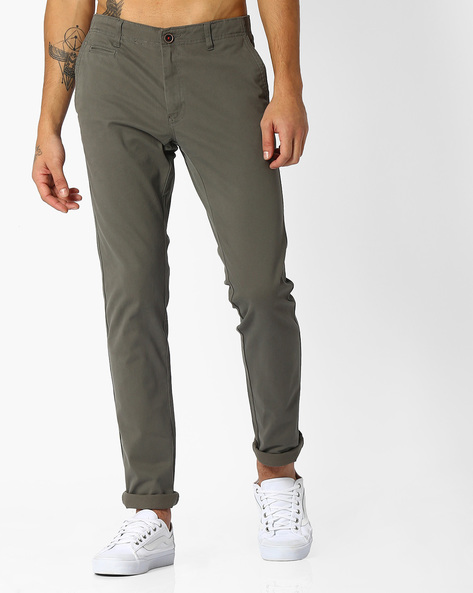 Tapered Fit Dobby Chinos By NETPLAY ( Medgrey )