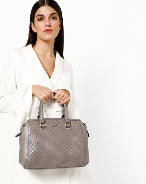 Textured Sling Bag With Detachable Strap By E2O ( Grey )
