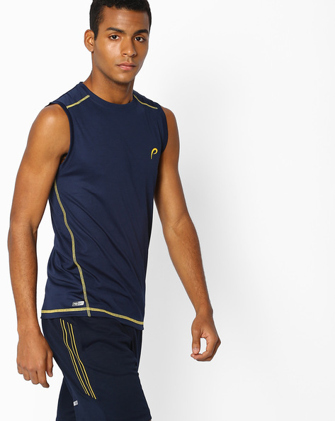 PRO-DRY Sleeveless T-shirt By PROLINE ( Navy )
