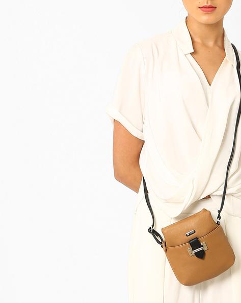 Sling Bag With Adjustable Strap By Lavie ( Beige )