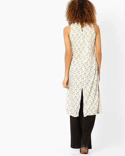 Printed-Sleeveless-Kurta