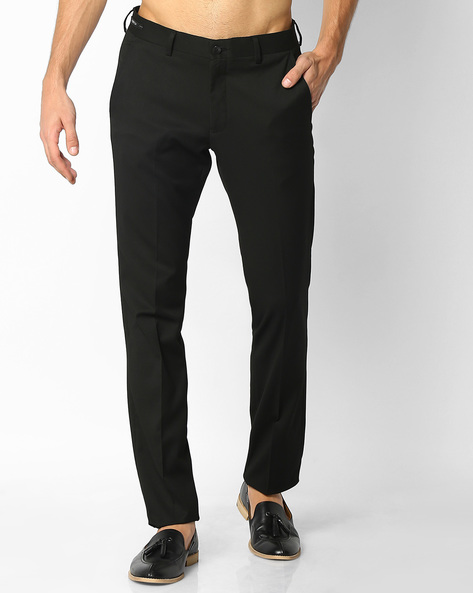 Slim Fit Formal Trousers By NETWORK ( Black ) - 440701141008