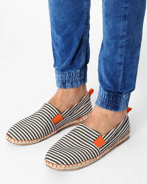 Striped Slip-On Canvas Espadrilles By AJIO ( Assorted ) - 460022956004