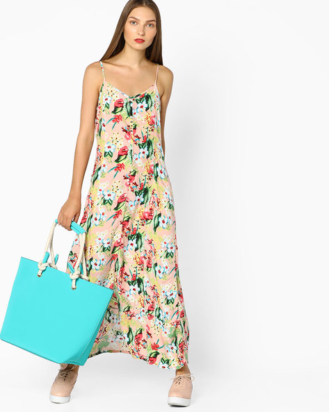 Floral Print Maxi Dress By Ginger By Lifestyle ( Pink )