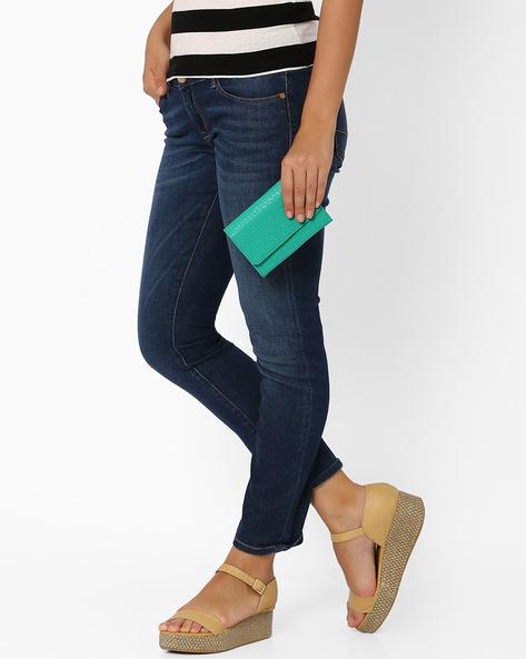 Textured Wallet By AJIO ( Green )