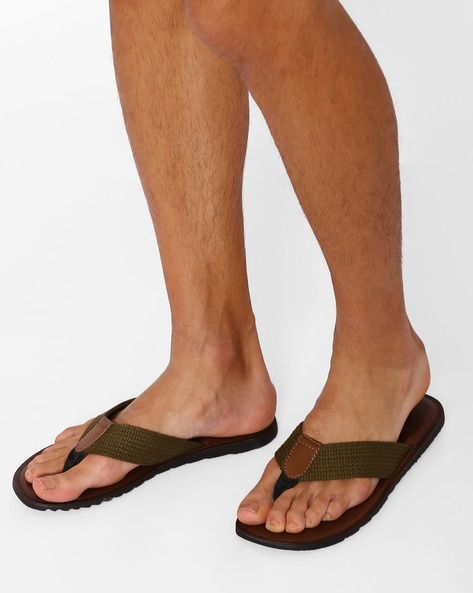 Flip-Flops With Braided Straps By USPA ( Olive )
