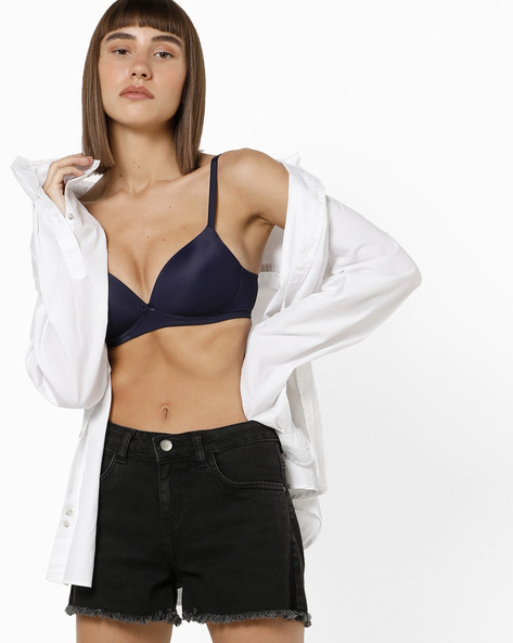 Lightly Padded T-shirt Bra By Marks & Spencer ( Darkblue )